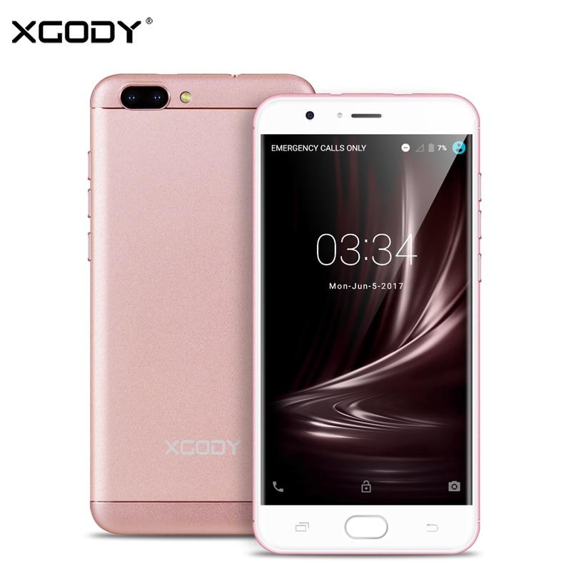 XGODY D18 5.5 Inch 4G LTE Smartphone Android 6.0 Quad Core 1GB RAM+16GB ROM 8.0MP+13.0MP Dual SIM Unlocked Cell Phones Telefon