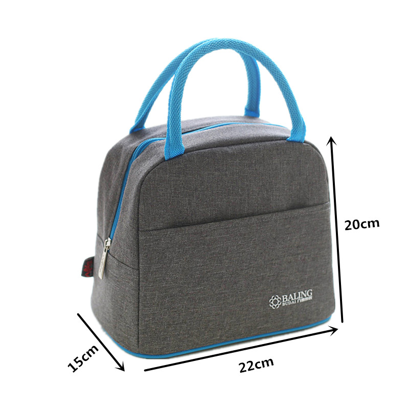 LHLYSGS Brand Oxford Thermal Lunch Bag Women Portable Thermo Bag Picnic Tote Insulated Food Beverage Storage Accessories Supply