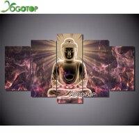 YOGOTOP DIY 5D Diamond Painting Cross Stitch Square Diamonds Embroidery 5D Diamond Mosaic Home Decor Buddha