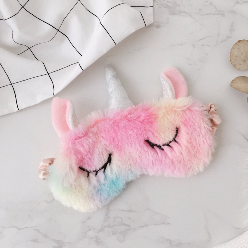 3983abfff28 Vanmajor Creative colorful plush shoes unicorn female slippers headband  eyewear bundle pocket plush toys-in Movies   TV from Toys   Hobbies on ...