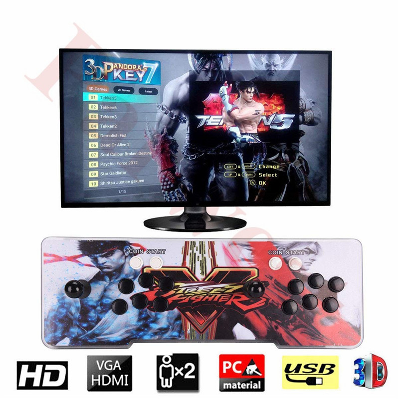 3D Pandora 7 2177 in 1 Arcade Video Game Console 1920x1080 Full HD 2 Players Arcade