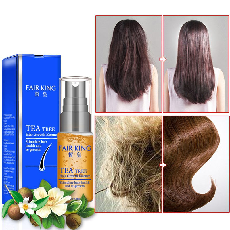 20ml Hair Growth Essence Product Treatment Anti-Hair Loss Products Thick Hair Fast Growing Tea Tree Essential oil