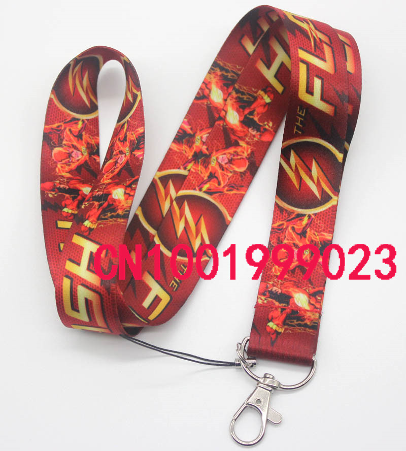 New 100pcs The Flash Lanyard Neck Straps Cell Phone Rope ID Card Keychain Pendant Fashion gifts