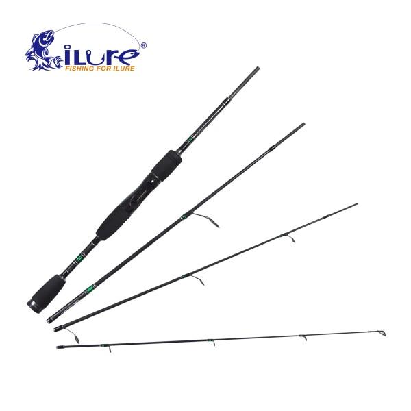 ФОТО Free shopping 1.98 Mt Fishing Rod Carbon Spinning Fishing Rod Vara De Pesca 4-section Medium Carp Fishing Pesca Curling Rod Olta