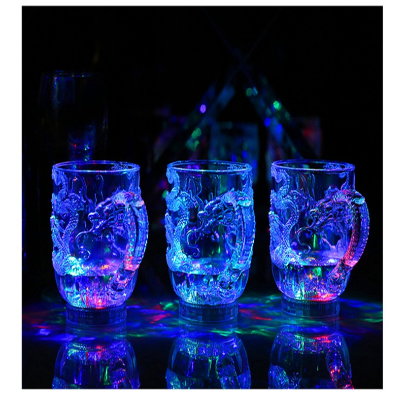 Unique Design LED Toy Light Color Change Pouring Water Activates Light up Dragon Luminous Cup for Holiday Party Decoration Lamp (1)
