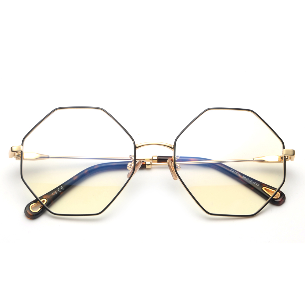 9ba4217798b Peekaboo optical eyeglasses frame women vintage 2018 gold metal oversized  octagon polygon glasses for computer protection men-in Eyewear Frames from  Apparel ...