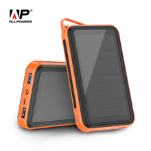 ALLPOWERS 15000mAh Solar PowerBank Portable Phone Chagrer External Battery for iPhone 5 6 6s 7 8