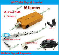 Best price! 3G Repeater W CDMA 2100Mhz Mobile Phone UMTS Signal Booster 3G WCDMA Signal Repeater Amplifier + 13dBi Yagi Antenna