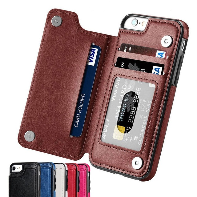 Case For Samsung Galaxy S7 S8 S9 S10 Plus Note 8 9 PU Leather Flip Wallet Cover with Phone holder Anti scratch  Dirt resistant