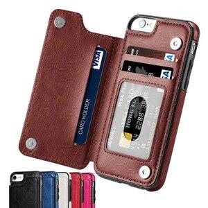 Image 1 - Caso para Samsung Galaxy S7 S8 S9 S10 Plus Nota 8 9 PU cuero Flip cartera cubierta con el titular del teléfono antiarañazos resistentes a la suciedad