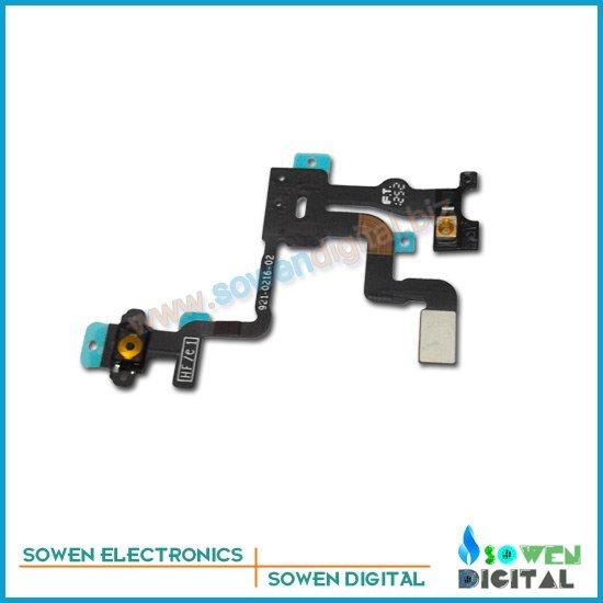 Power volume switch flex cable for iphone 4s on/off flex , 100 %  guarantee