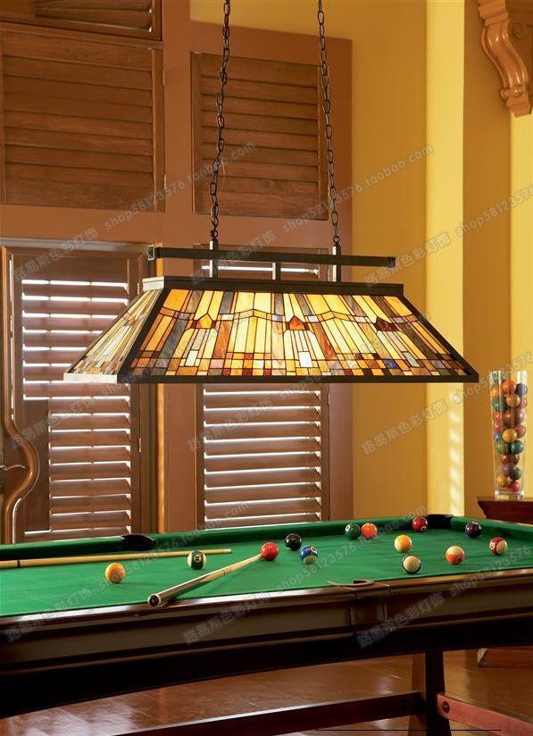 Lampes européennes longues lampes de restaurant longues tables de billard lustre dart en verre moderne antique éclairage dart