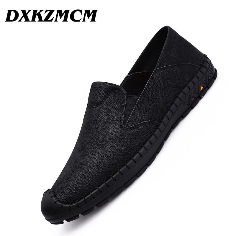 DXKZMCM Soft Moccasins Men Loafers High Quality Genuine Leather Shoes Men Flats Driving Shoes amaginmni summer style soft moccasins men loafers high quality genuine leather shoes men flats driving shoes casual shoes men