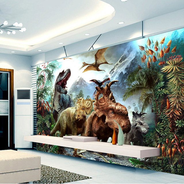 Online Shop Custom 3D Poster Foto Behang 3D Cartoon Dinosaurus non ...
