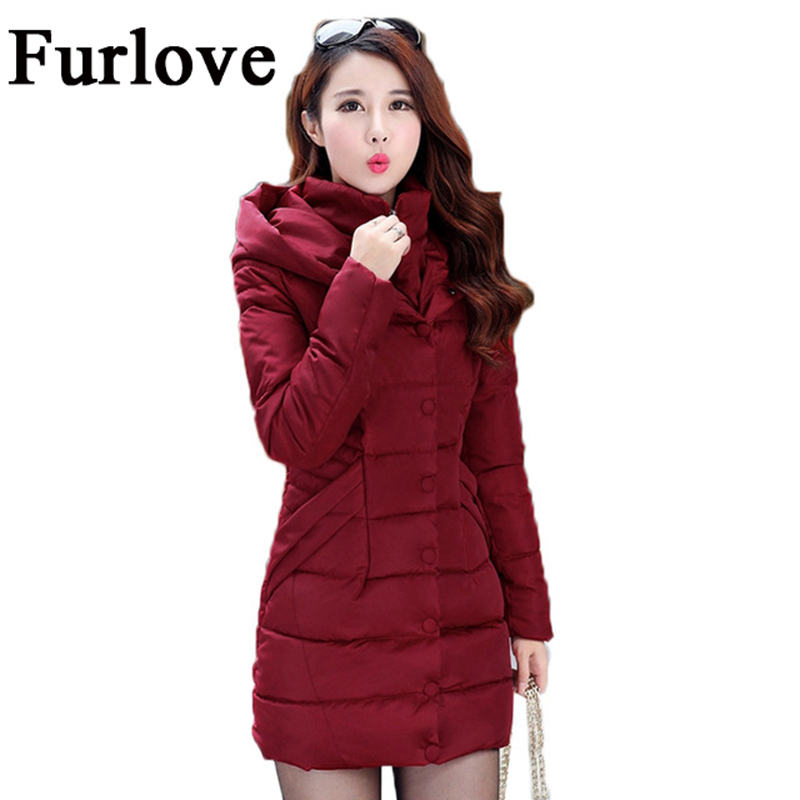 New Winter Autumn Jacket Women 2017 Space Cotton Coat Thick Parkas Red Black Blue Khaki Warm Clothes Hooded High Quality Coats new arrival electric body for stra tocaster in flash black