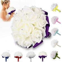 Beautiful Artificial Bouquet of flowers wedding Bride wedding holding flowers Bridesmaid For Wedding/Party/ Office Decor