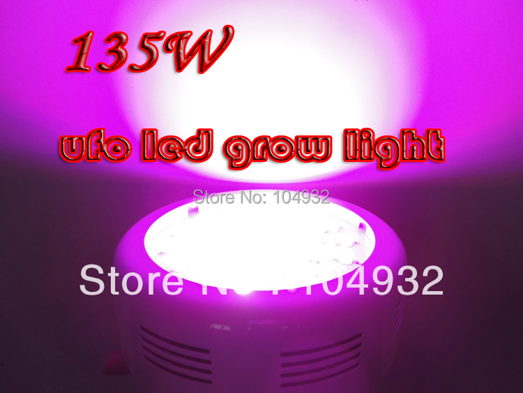 135W LED Grow Light 10 Spectrums IR Indoor Hydroponic System Plant UFO  45*3W led light