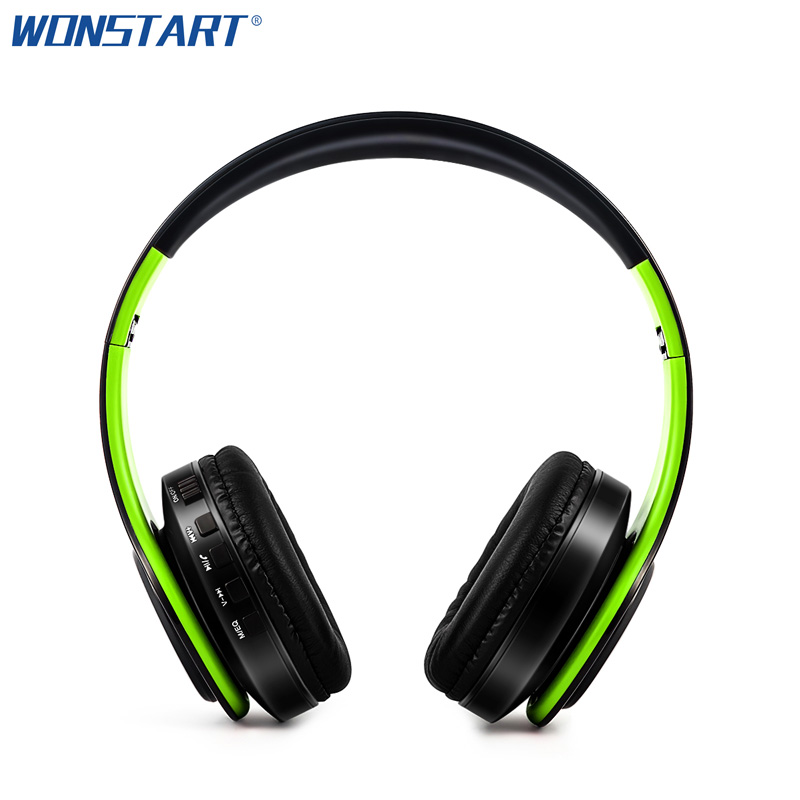 Wonstart Wireless Auriculares Bluetooth Headphones Earphone Headset FM TF Handsfree With Mic for ios Android Smartphones PC wireless bluetooth earphone headphones s9 sport earpiece headset with tf card slot 8g auriculares with micro for iphone android