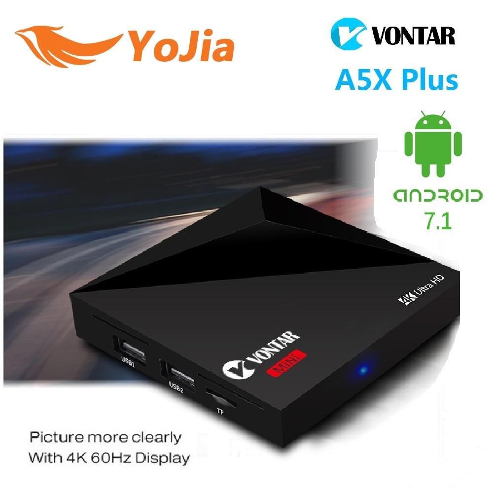 2 gb 16 gb android 7.1 vontar rk3328 a5x plus tv box rockchip 1 gb 8 GB 2.4G WIF
