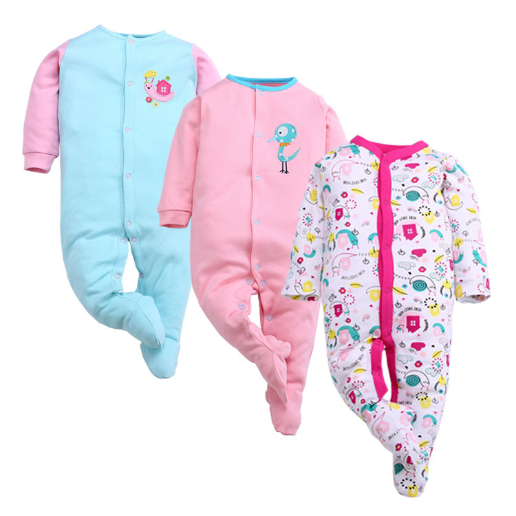 0-12M baby 3 Pieces/lot Cartoon baby Romper cotton NewBorn Baby clothes Ropa Bebe Next Baby Girl clothing 6M 9M 12M