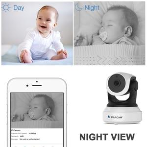 Image 3 - Cámara Vstarcam 720 P Wifi IP inalámbrica C7824WIP Monitor de seguridad para bebé red IP intercomunicador Teléfono Móvil APP cámara de visión nocturna