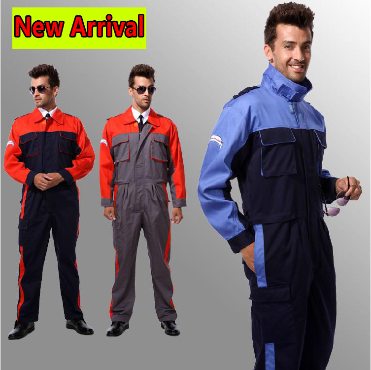 SPARDWEAR Wholesales worker Clothing Factory Uniforms Safety Mens Workwear Working clothes Big Size Suit Sets Men Coveralls