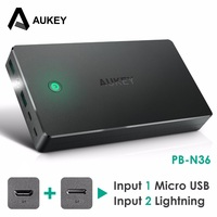 AUKEY 20000mAh Power Bank Dual USB External Power Batteries Portable Mobile Phone Charger For Xiaomi IPhone