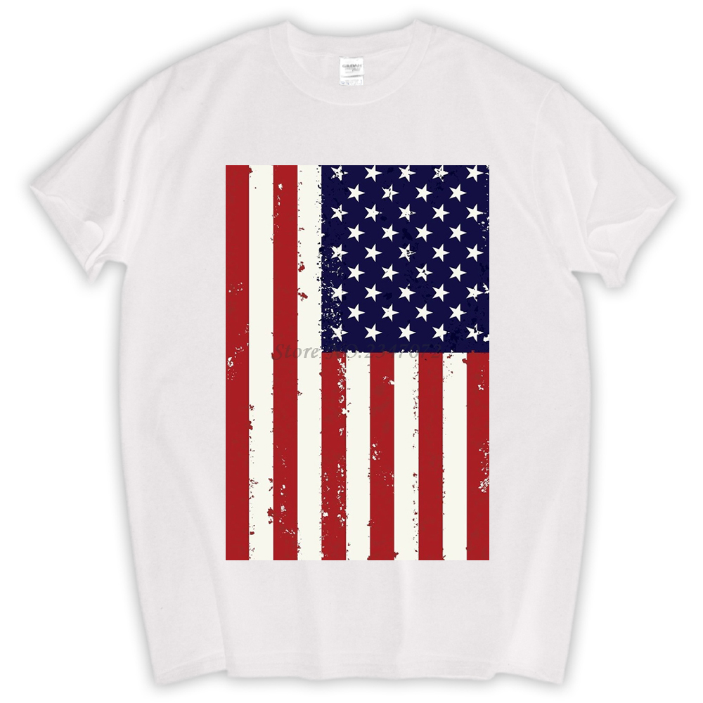 7a1f92bae0a American Flag america USA pride veteran fourth of july memorial day military  vintage retro Mens T-shirt