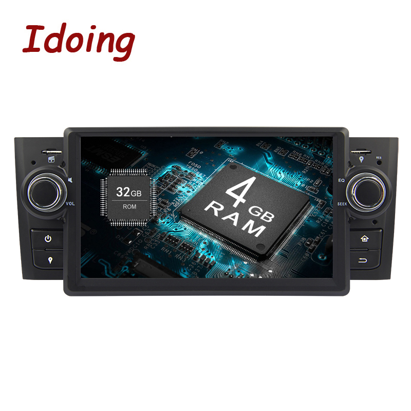 Idoing Steering-Wheel 71Din Android 8.0 Car Video GPS Player For Fiat Linea Multimedia GPS Navigation 4G+32G Touch Screen AUX