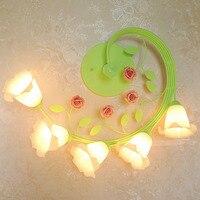Потолочные светильники светодиодные потолочные светильники gardern цветок 110 220 В современный простой блеск светильник потолочный светильник