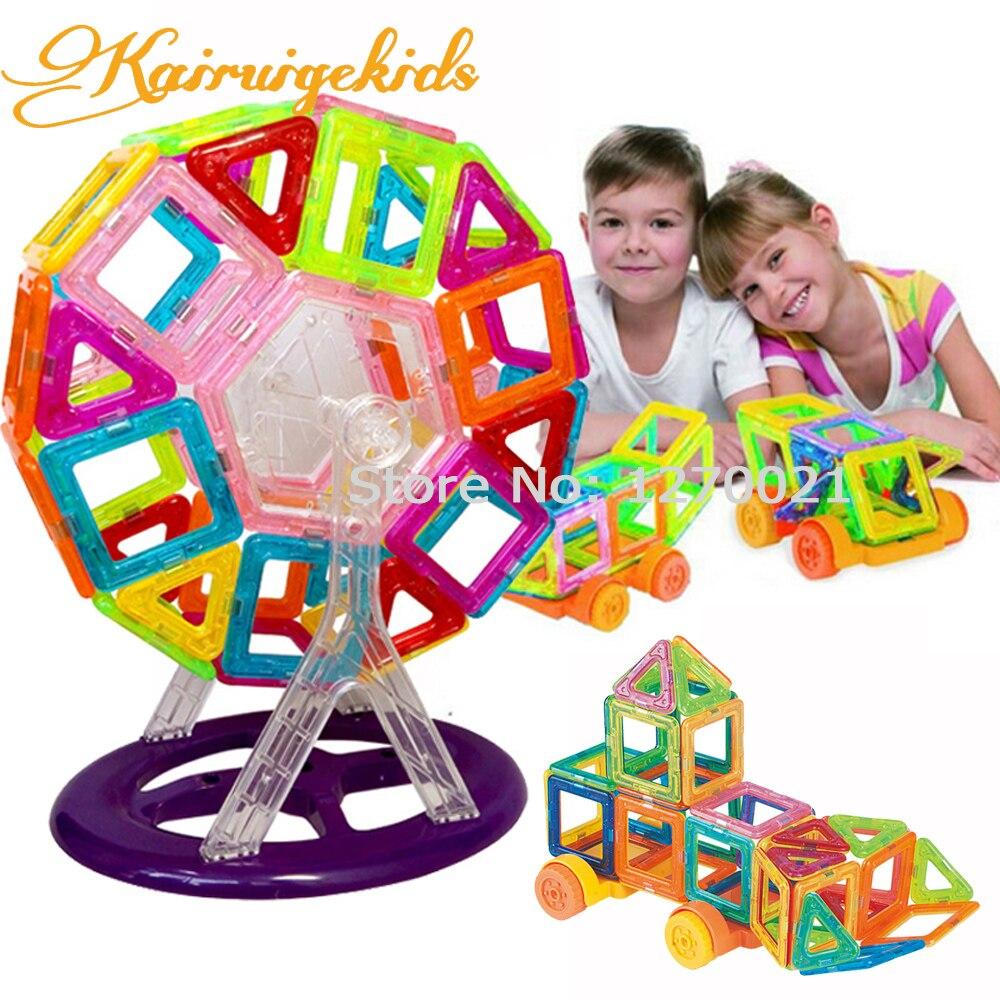 90Pcs/Lot Mini Magnetic Building Blocks Models & Building Toy Magnetic Plastic Bricks Kids Toy Enlighten Block Magnetic Designer magnetic toy 77pcs mini magnetic models