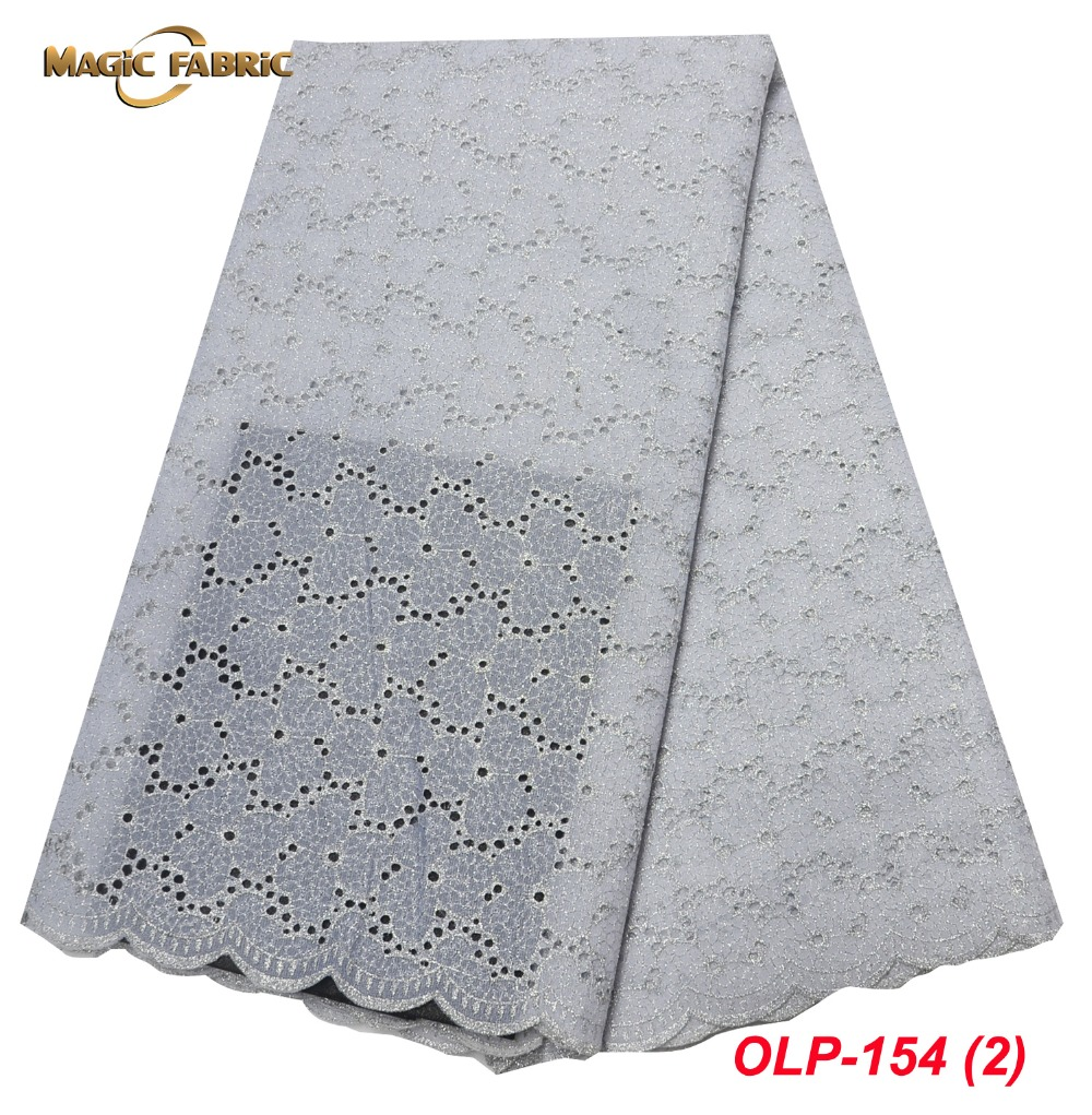 2018 Latest African Organza Lace Fabric 2018 High Quality Sequins Lace embroidered Nigerian lace Fabric with