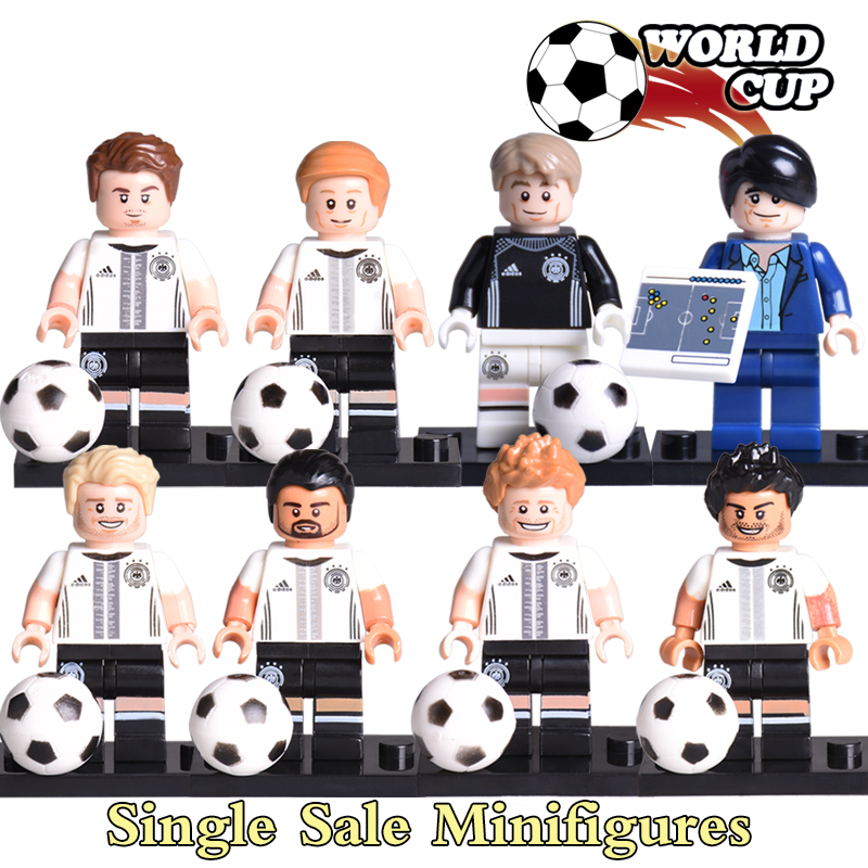 Building Blocks Mats Hummels Benedikt Howedes Mario Gotze German Soccer team Football World Cup Diy figures Bricks Kids Toys ausini 251pcs 2014 brazil world cup football soccer stadium minifig 3d diy action figures building blocks bricks gifts toys