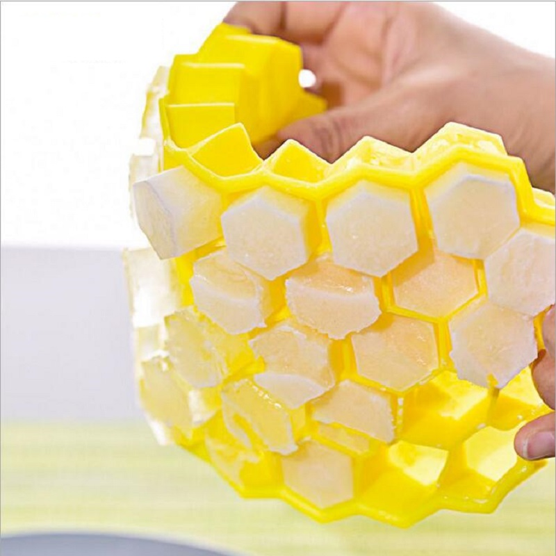 11 Patterns  Ice Cube Eco-Friendly Cavity Silicone Tray Mini Ice Cubes Small Fruits Mold Ice Maker Honeycomb Shape Models