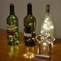 Abajur 15LED Bottle Lights Cork Shape White Light For Wine Bottle String Party Romantic Night Light Lumiparty Luminaria