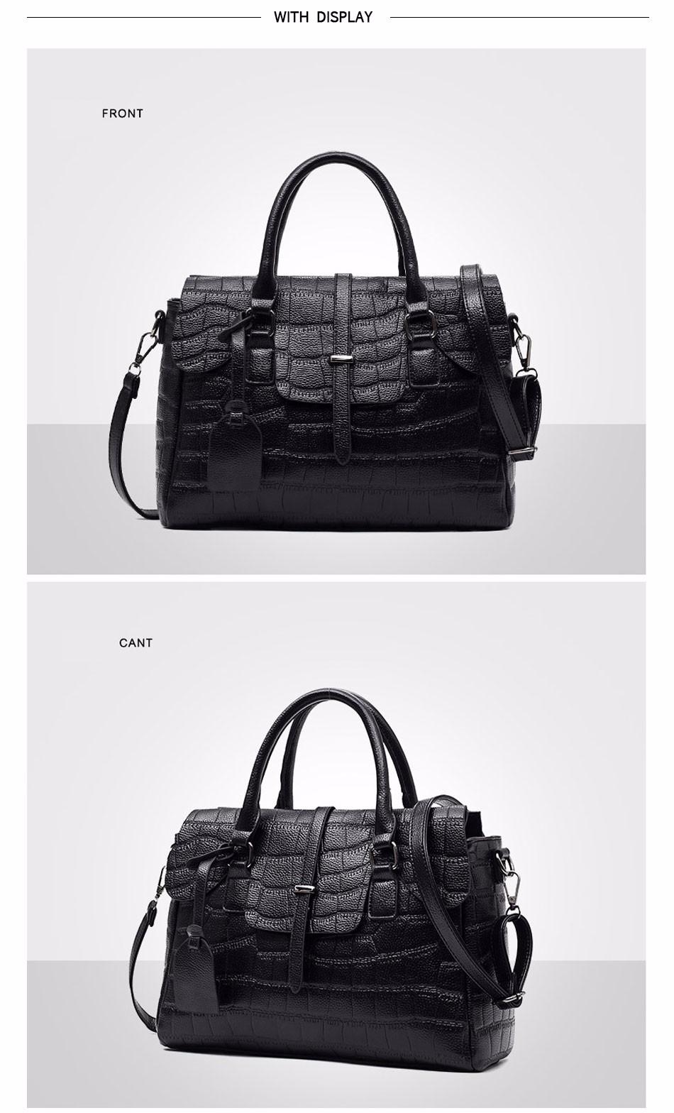 High Quality PU Leather Women's Handbags Shoulder Bag Ladies Hand Bags Stone Casual Women Bag Large Capacity Handbag 17 Sac 10
