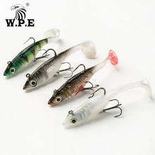 W.P.E Brand Lead Head Soft Lure 8cm/10cm/12cm/14cm 1pcs Fishing Swimbait Jig Treble Hook and Single Carp