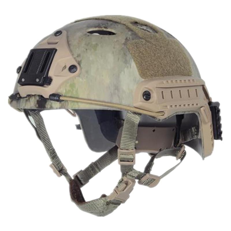 TACTICAL FAST Helmet PJ TYPE Sports Protective Helmet A-Tacs Multicam 8 Colors Cycling Helmet ABS Material M L