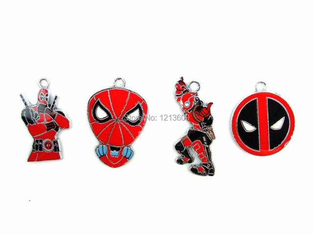 Mixed 20pcs Cartoon Deadpool Charms Pendants Jewelry Making DIY ...