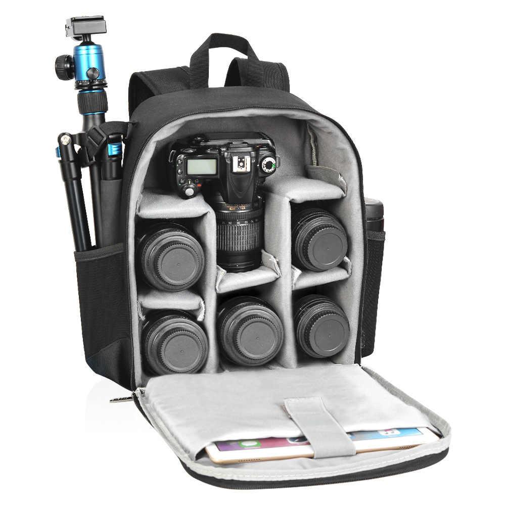 XSY DSLR Camera Backpack Women Mens Photography Travel Bag For Canon Nikon