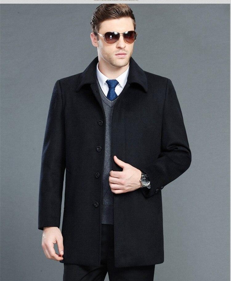 Tcyeek Mischungen Design Männer Casual Anzug Wolle