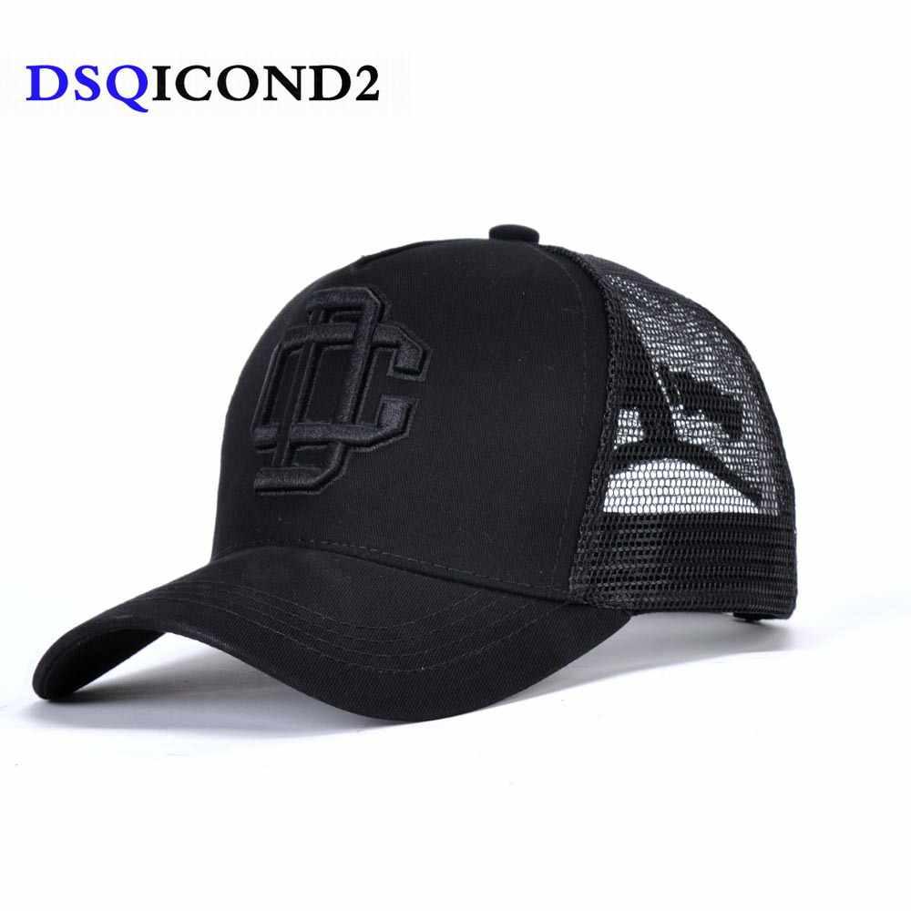 17255b3c710 DSQICOND2 Letter DSQ Summer Mesh Quick-drying Cap Men Baseball Cap Daddy Hats  Baseball Caps