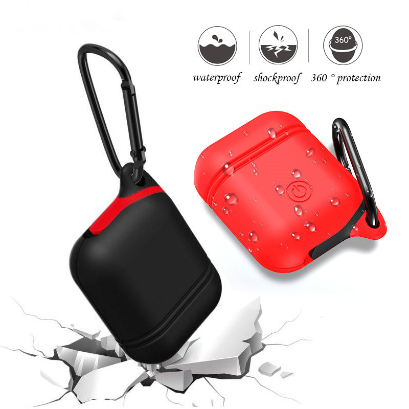 Soft Silicone Earphone Case For Apple Airpods Waterproof Protective Headphone Cover Cases Storage Carrying Bag Earphone Cases