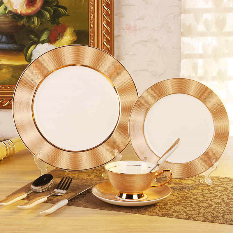 Royal Bone China Dinner Set Ceramic Dishes For Restaurant 11 8  Plates + Coffee : best dinner plate sets - pezcame.com
