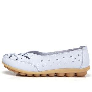 Image 3 - STQ 2020 ฤดูร้อนผู้หญิงแฟลตบัลเล่ต์หนังแท้รองเท้า Loafers SLIP บนรองเท้าส้นแบนผู้หญิง Loafers Ballerina 1165