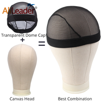 Alileader Best Combination Professional Canvas Block Head And Dome Cap Big Promotion Mannequin Head Hairstyles 21 25 5 Sizes