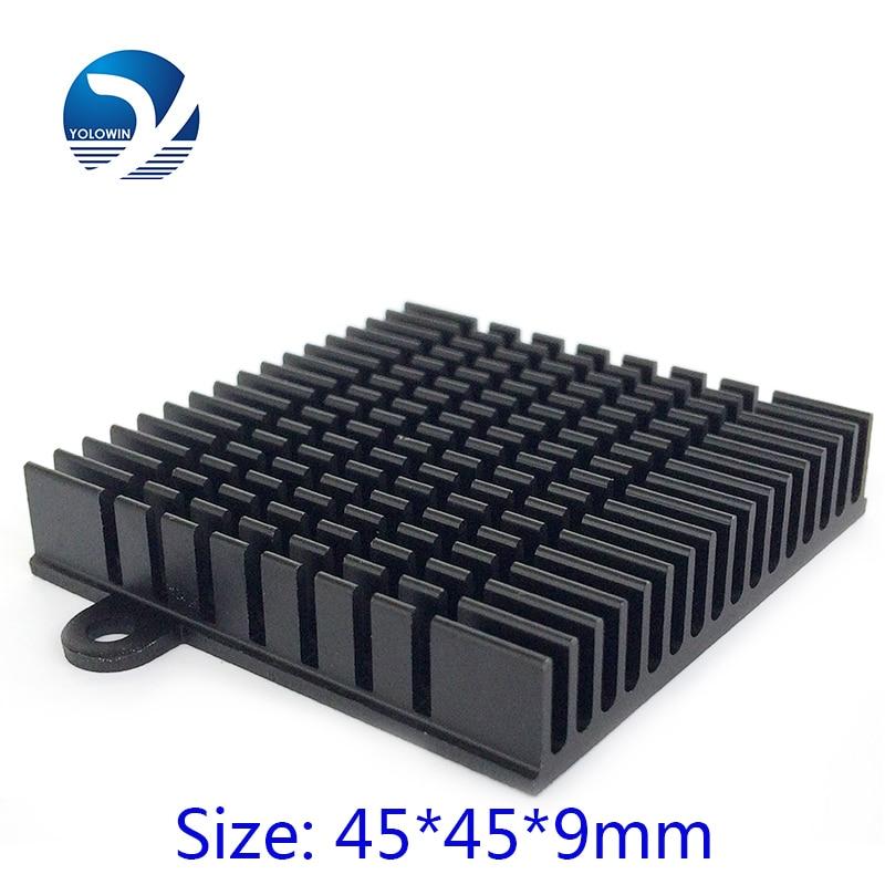 3Pcs / Set procesora dzesēšanas šķidruma radiatora alumīnija dzesēšanas šķidruma ekstrudēta profila siltuma izlietne elektroniskajam siltuma izkliedētājam YL-0006