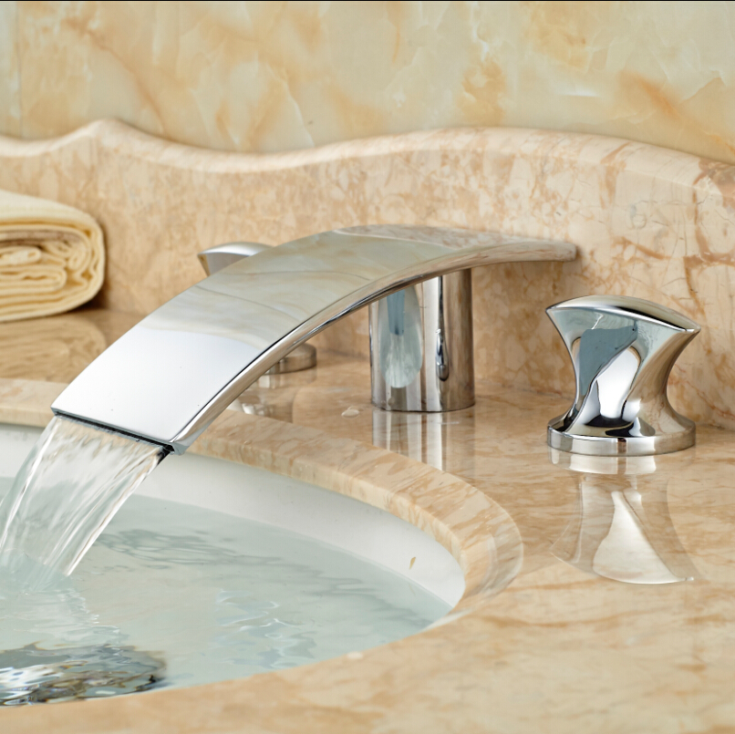 High Quality Best Price Bathroom Waterfall Faucet Basin Mixer Tap ...