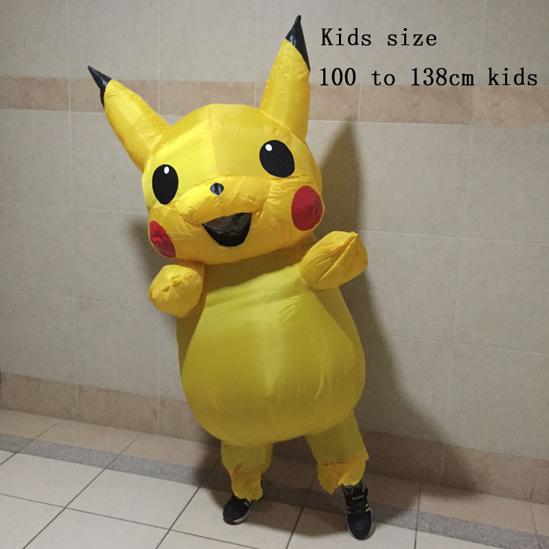 buy adults kids inflatable pikachu costume pokemon cosplay halloween costume outfit cosplay costume for adult and kids from reliable
