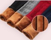 ילדי חורף 2017 סתיו חורת חותלות פסים מכנסיים לילדים מכנסיים מכנסיים מותן אלסטיות חם ילדה חותלות כותנה עבה